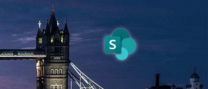 sharepoint clients represented by the sp logo by tower bridge